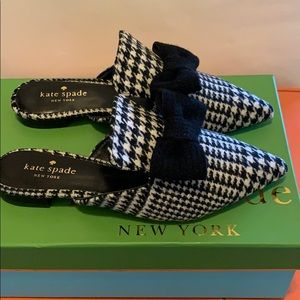 New! Kate Spade Karin Houndstooth wool loafers.
